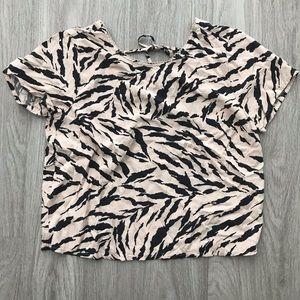 Animal Print Crop Top